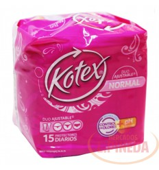 Protectores Kotex Ph X 15