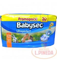 Pañal Babysec Premium M X 30 Promopack