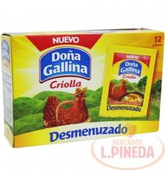 Caldo Doña Gallina Desmenuzado X 12 Unds 10 G
