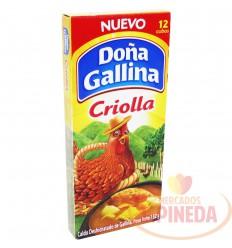 Caldo Doña Gallina X 12 Cubos X 132 G