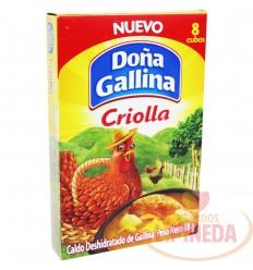 Caldo Doña Gallina X 8 Cubos X 88 G