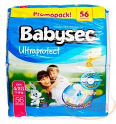 Pañal Babysec Ultraproctect X 56 Etapa Xg