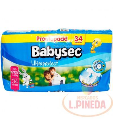 Pañal Babysec Ultraproctect X 34 Etapa Xg