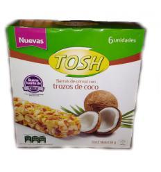 Barra de cereal tosh con coco x1