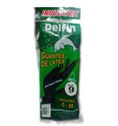 Guantes de latex - delfin talla 9 negros