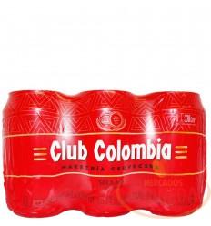 Cerveza Club Colombia 330 CC X 6 Roja Lata