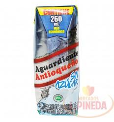 Aguardiente Antioqueño X 260 ML 1/4 Sin Azucar