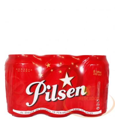 Cerveza Pilsen X 330 CC Lata Sixpac X 6