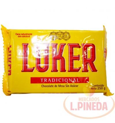 Chocolate Luker X 250 G Tradicional Sin Azucar