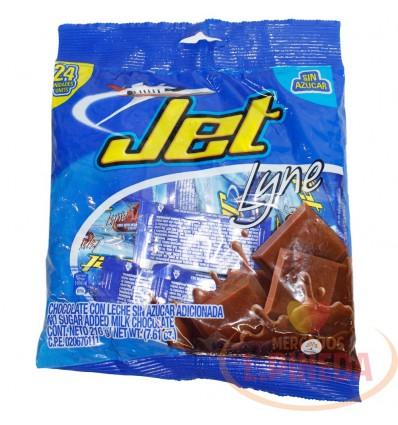 Chocolatina Jet 24 X 9 G Sin Azucar Lyne