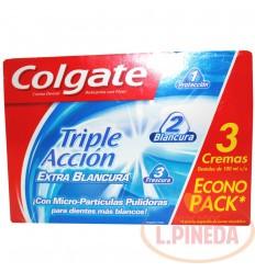 Crema Dental Colgate 3 X 100 G Extra Blancura