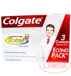 Crema Dental Colgate 3 X 75ml Total 12