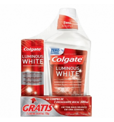 Enjuague Bucal Colgate Luminous White+Crema Dental Luminous