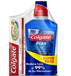 Enjuague Bucal Colgate Plax Ice x500ML+Crema Dental Clean Mint