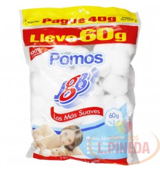 Algodon Jgb X 60 G Pomos Pague 40 G Lleve 60