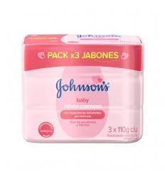 Jabon Johnson's Baby x 110Gr X 3 und Humectante