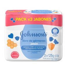 Jabon Johnson's Baby x 125Gr X 3 und Libre de Germenes