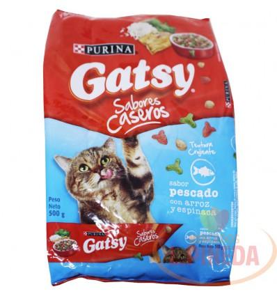 Cuido Para Gatos Gatsy X 500 G Pescado-Arroz Y Espinaca