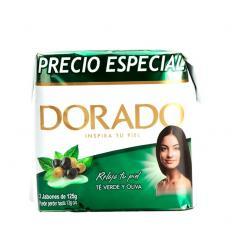 Jabon Baño Dorado X 3 UND X 125G Te Verde y Oliva