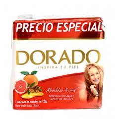 Jabon Baño Dorado X 3 UND X 125G Toronja Rosada y Aceite de Argán