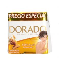 Jabon Baño Dorado X 3 UND X 125G Avena y Miel