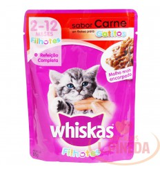 Cuido Whiskas Pouch Gatito Carne X 85 G