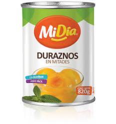 Duraznos en Mitades MiDia X 820 G