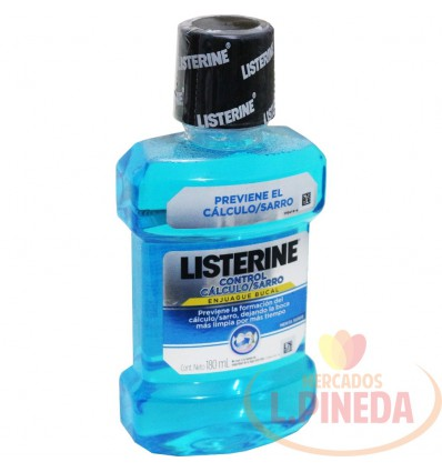 Enjuague Bucal Listerine X 180 ML Control Calculo-Sarro