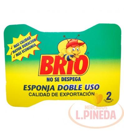 Esponja Brio Doble Uso X 2 Unds