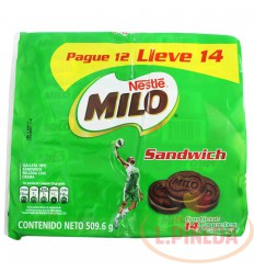 Galletas Milo Sandwich Nestle X 12 Unds