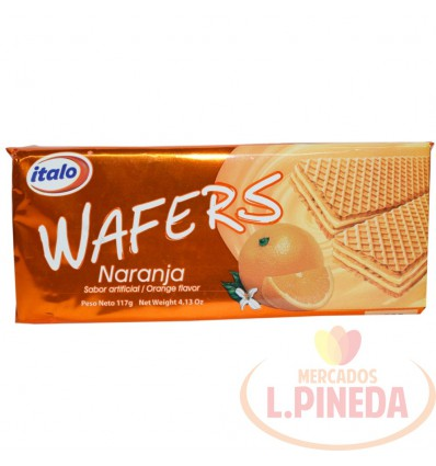 Galletas Wafers Italo Naranja X 117 G