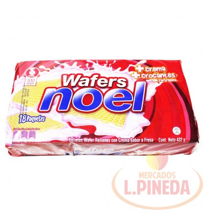 Galletas Wafers Noel Fresa X 18 Unds