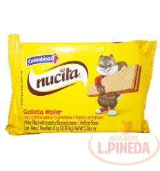 Galletas Wafers Nucita X 81 G