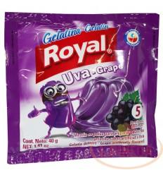 Gelatina Royal X 40 G Uva
