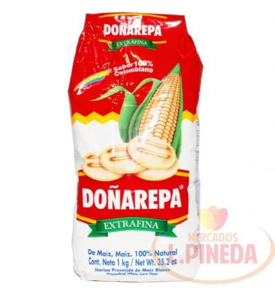 Harina De Maiz Doñarepa X 1000 G Blanca
