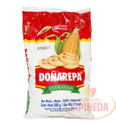 Harina De Maiz Doñarepa X 500 G Blanca