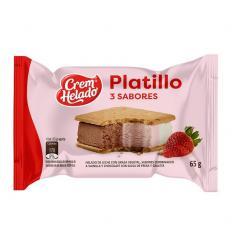 Helado Cream * 65G Platillo 3 Sabores