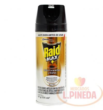 Insecticida Raid Max Cucar-Aranas X 235 CC