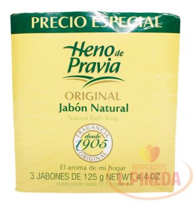 Jabon Baño Heno Pravia 125 G X 3 Original