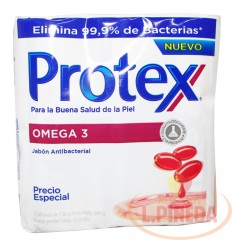 Jabon Baño Protex 130 G X 3 Omega 3
