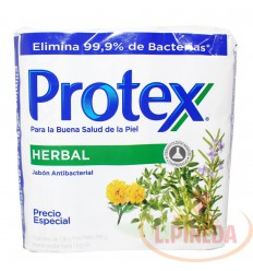 Jabon Baño Protex X 130 G Herbal Paq X 3