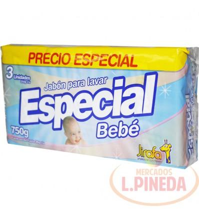 Jabon Barra Especial X 250 G Bebe Paq X 3