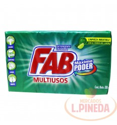 Jabon Barra Fab X 300 G Frescura Limon
