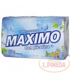 Jabon Barra Maximo X 450 G Glicerina Paquete