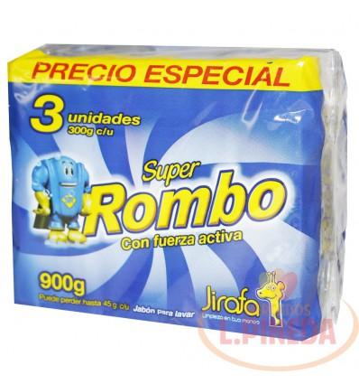 Jabon Barra Super Rombo X 300 G Paquete X 3