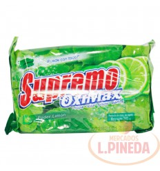 Jabon Barra Supremo X 240 G Limon Oximax