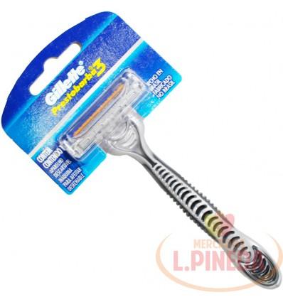 Maquina para Afeitar Gillette 3 hojas Gris