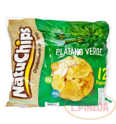 Mecato Natuchips Platano Verde X 28 G X 12