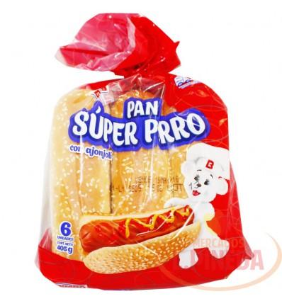 Pan Perro Bimbo X 405 G 6 Unds Con Ajonjoli