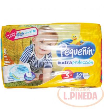 Pañal Pequeñin Extrac. Etapa 3 X 30